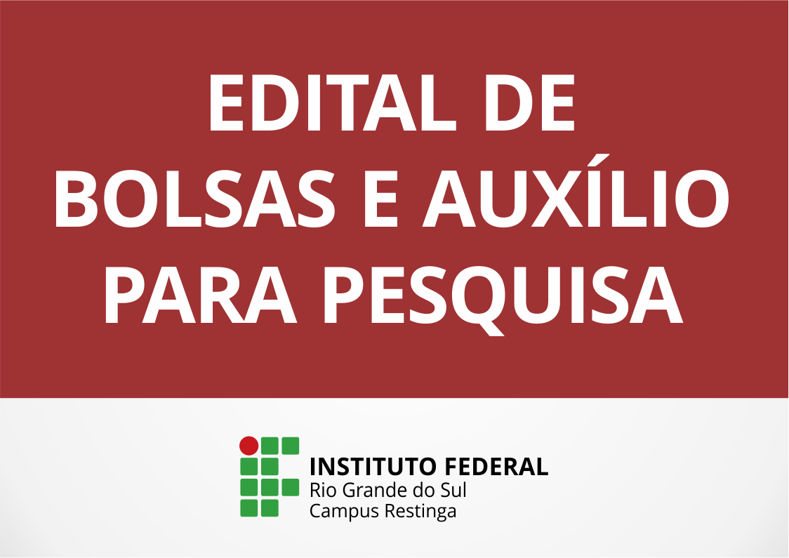 eccf1cc31e Foi publicado Edital Complementar de Bolsas de Iniciação Científica e ou  Tecnológica e Auxílio Institucional à Produção Científica e ou Tecnológica  (AIPCT)