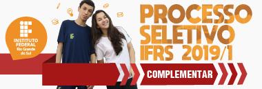 Acesse o site do Processo Seletivo Complementar 2019/1